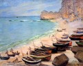 Boats on the Beach at Etretat Claude Monet